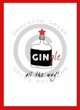 GINgle Bells Christmas Card